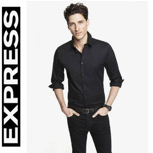 NWOT EXPRESS BLACK FITTED BUTTON FRONT